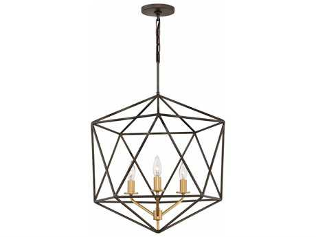 Hinkley Lighting Astrid Metallic Matte Bronze Three-Light 20'' Wide Mini Chandelier