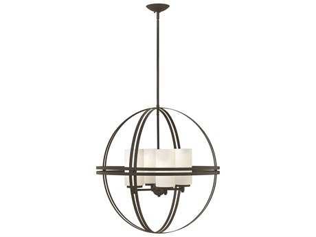 Hinkley Lighting Atrium Bronze Four-Light 26 Wide Chandelier HY3275BZ