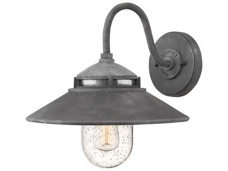 Hinkley Lighting Atwell Aged Zinc 11'' Wide Outdoor Wall Light