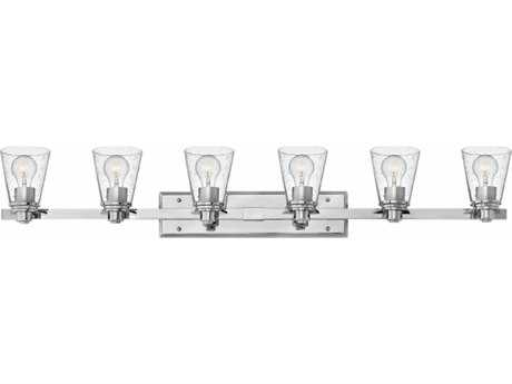 Hinkley Lighting Avon Chrome with Clear Seedy Glass Six-Light Vanity Light HY5556CMCL