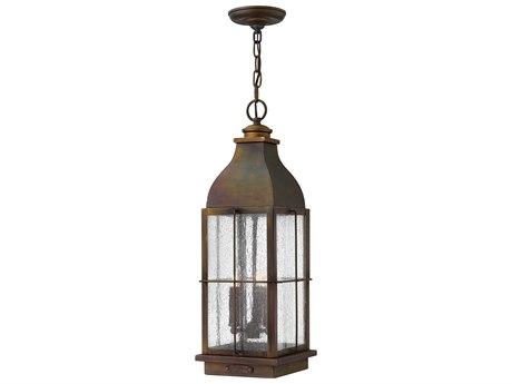 Hinkley Lighting Bingham Sienna Three-Light 8'' Wide LED Outdoor Hanging Lighting