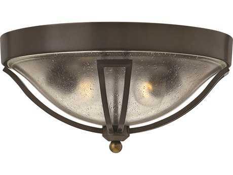Hinkley Lighting Bolla Olde Bronze Two-Light Outdoor Ceiling Light