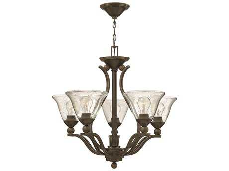 Hinkley Lighting Bolla Olde Bronze Five-Light 24 Wide Clear Glass Chandelier HY4655OBCL