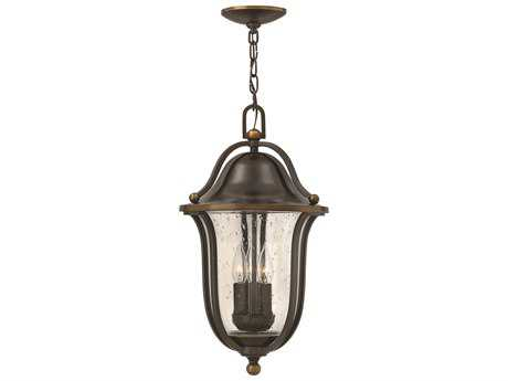 Hinkley Lighting Bolla Olde Bronze Three-Light Outdoor Pendant Light