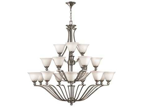 Hinkley Lighting Bolla Brushed Nickel 18-Light 48 Wide Grand Chandelier HY4659BN
