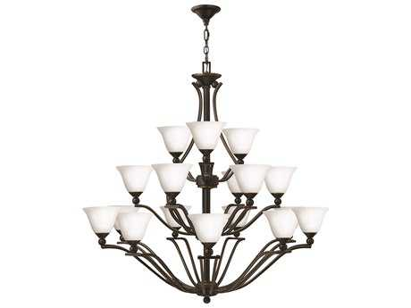 Hinkley Lighting Bolla Olde Bronze 18-Light 48 Wide Grand Opal Glass Chandelier HY4659OBOPAL