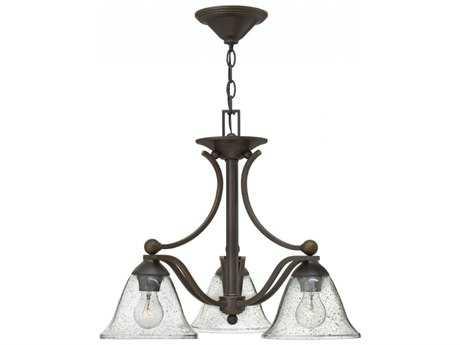 Hinkley Lighting Bolla Olde Bronze Three-Light 22.5'' Wide Mini-Chandelier HY4653OBCL