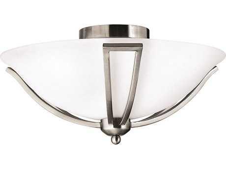 Hinkley Lighting Bolla Brushed Nickel Two-Light Incandescent Semi-Flush Mount Light HY4660BN
