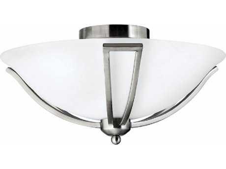 Hinkley Lighting Bolla Brushed Nickel 16.75'' Wide LED Semi-Flushmount Ceiling Light HY4660BNLED