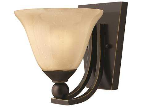 Hinkley Lighting Bolla Olde Bronze Incandescent / Light Amber Glass Wall Sconce HY4650OB