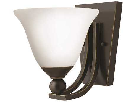 Hinkley Lighting Bolla Olde Bronze Incandescent / Opal Glass Wall Sconce HY4650OBOPAL