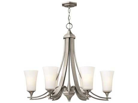 Hinkley Lighting Brantley Brushed Nickel Six-Light 29.75 Wide Chandelier HY4636BN