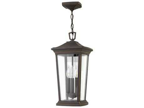 Hinkley Lighting Bromley Oil Rubbed Bronze Three-Light Outdoor Hanging Light