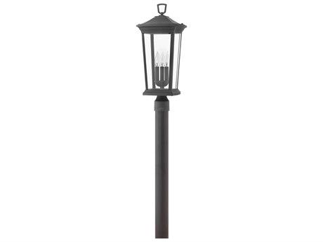 Hinkley Lighting Bromley Museum Black Three-Light 10'' Wide Outdoor Post Light