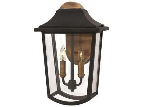 Hinkley Lighting Burton Black Two-Light Outdoor Wall Light