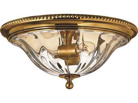 Hinkley Lighting Cambridge Burnished Brass Two-Light Flush Mount Light HY3616BB