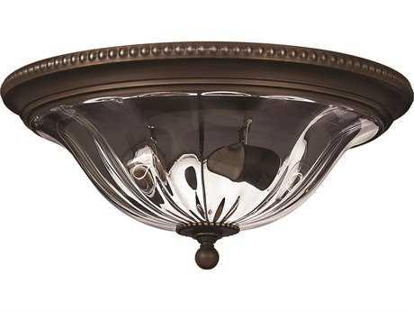 Hinkley Lighting Cambridge Olde Bronze Two-Light Flush Mount Light HY3616OB
