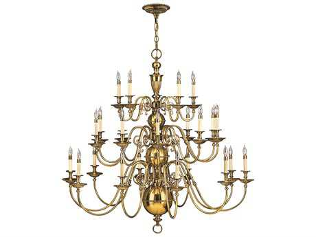 Hinkley Lighting Cambridge Burnished Brass 25-Light 48.5 Wide Grand Chandelier HY4419BB