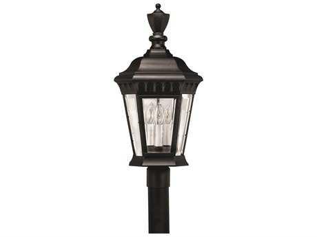 Hinkley Lighting Camelot Black Three-Light Outdoor Post Light HY1707BK