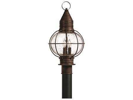 Hinkley Lighting Cape Cod Sienna Bronze Three-Light Incandescent Outdoor Post Light HY2207SZ