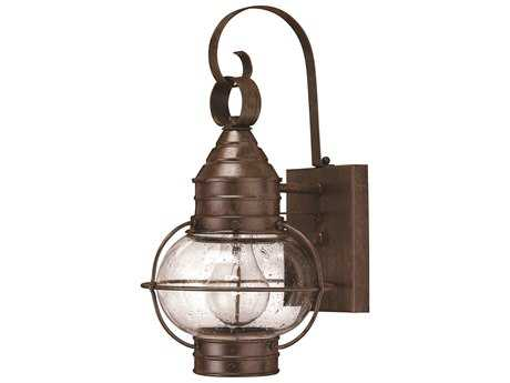 Hinkley Lighting Cape Cod Sienna Bronze Incandescent Outdoor Wall Light HY2206SZ