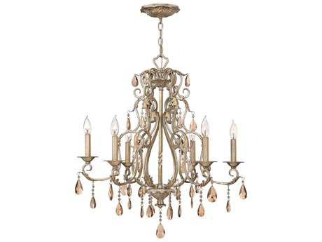 Hinkley Lighting Carlton Silver Leaf Six-Light 28 Wide Chandelier HY4776SL