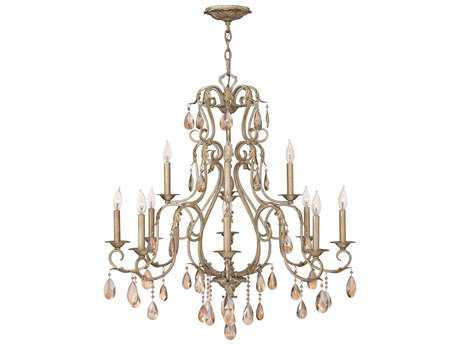 Hinkley Lighting Carlton Silver Leaf 12-Light 35 Wide Chandelier HY4778SL