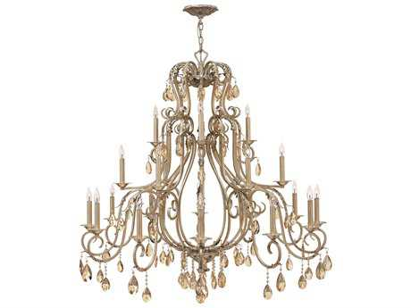 Hinkley Lighting Carlton Silver Leaf 21-Light 45 Wide Grand Chandelier HY4779SL