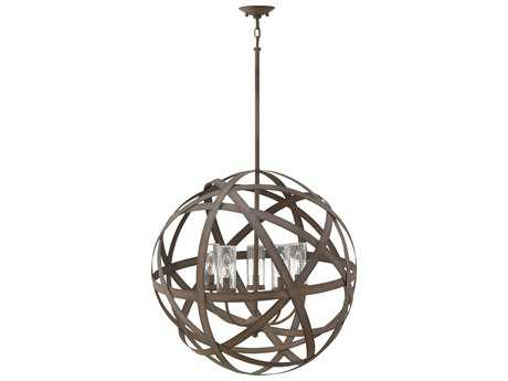 Hinkley Lighting Carson Vintage Iron Five-Light Outdoor Hanging Light