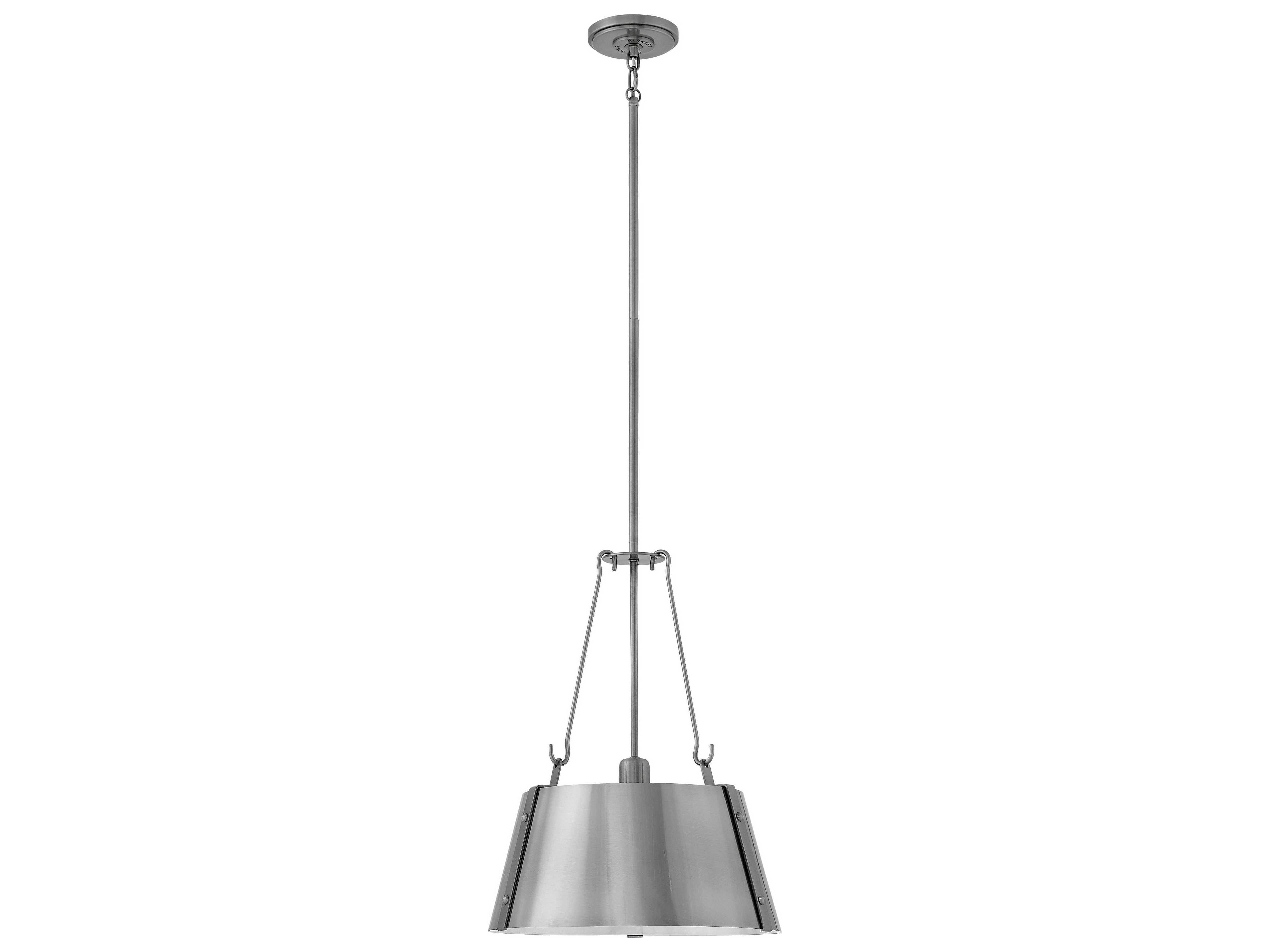 Hinkley Lighting Cartwright Polished Antique Nickel 15 ...
