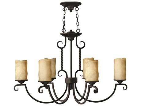 Hinkley Lighting Casa Olde Black Six-Light 23 Wide Chandelier HY3508OL
