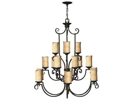Hinkley Lighting Casa Olde Black 15-Light 42 Wide Chandelier HY4019OL