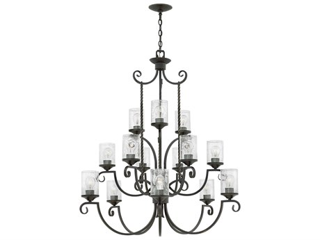 Hinkley Lighting Casa Olde Black 15-Light 42'' Wide Chandelier HY4019OLCL