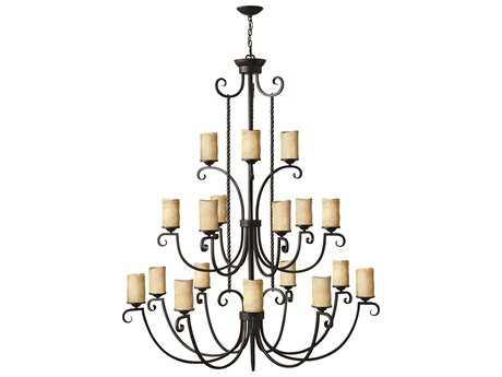 Hinkley Lighting Casa Olde Black 18-Light 56'' Wide Chandelier HY4309OL