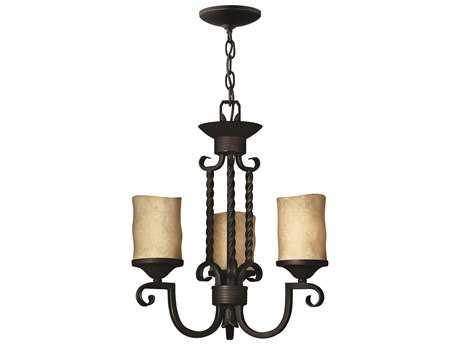 Hinkley Lighting Casa Olde Black Three-Light 16.75 Wide Mini-Chandelier HY4013OL