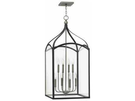 Hinkley Lighting Clarendon Aged Zinc Eight-Light 20'' Wide Chandelier