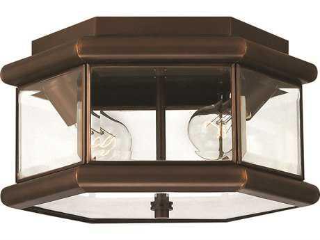 Hinkley Lighting Clifton Park Copper Bronze Two-Light Outdoor Ceiling Light HY2429CB