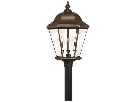 Hinkley Lighting Clifton Park Copper Bronze Four-Light Outdoor Post Light