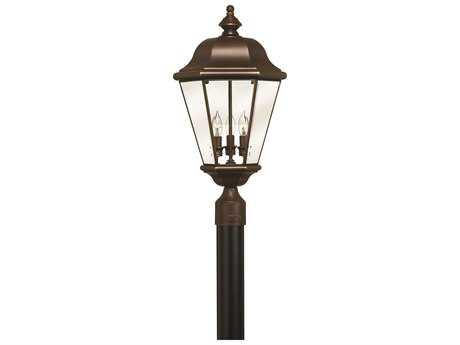 Hinkley Lighting Clifton Park Copper Bronze Three-Light Outdoor Post Light HY2421CB