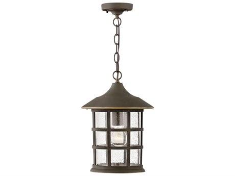 Hinkley Lighting Coastal Elements Oil Rubbed Bronze 1-light Glass Outdoor Hanging Light