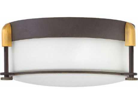 Hinkley Lighting Colbin Oil Rubbed Bronze Two-light 13'' Wide Flush Mount Light HY3231OZ