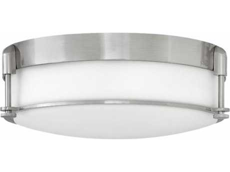 Hinkley Lighting Colbin Brushed Nickel Three-Light 17'' Wide Flush Mount Light