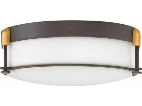 Hinkley Lighting Colbin Oil Rubbed Bronze Three-Light 17'' Wide Flush Mount Light