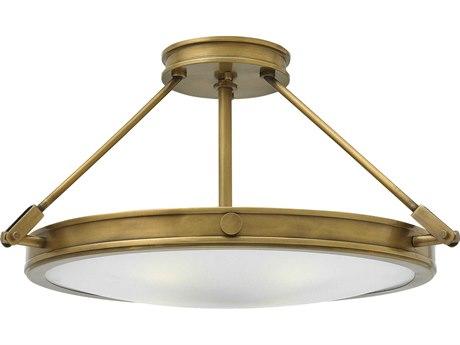 Hinkley Lighting Collier Heritage Brass 22'' Wide LED Semi-Flush Mount Light HY3382HBLED