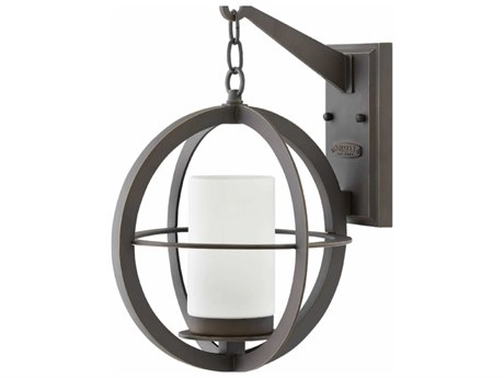 Hinkley Lighting Compass Oil Rubbed Bronze 12'' Wide Outdoor Wall Light