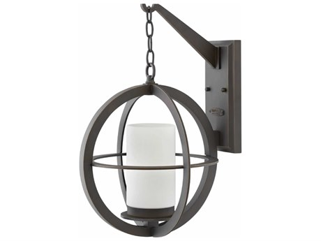 Hinkley Lighting Compass Oil Rubbed Bronze 14'' Wide Outdoor Wall Light