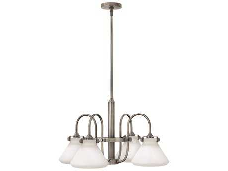 Hinkley Lighting Congress Antique Nickel Four-Light 26.25 Wide Chandelier HY3040AN