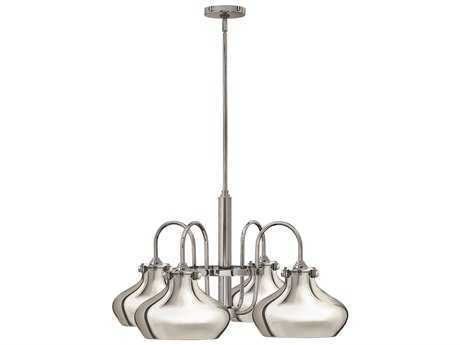 Hinkley Lighting Congress Chrome Four-Light 28 Wide Chandelier HY3048CM