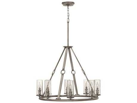 Hinkley Lighting Dakota Polished Antique Nickel Eight-Light 31.5 Wide Chandelier HY4788PL