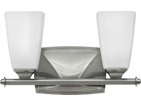 Hinkley Lighting Darby Brushed Nickel Two-Light 14'' Wide Incandescent Vanity Light HY53012BN